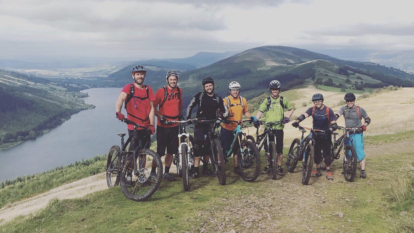 Guided Ride South Wales - Brecon Epic, group mtb ride, Brecon, Talybont on usk, Gilwern, Brecon Beacons, National park, uplifts Wales, Guided ride Wales