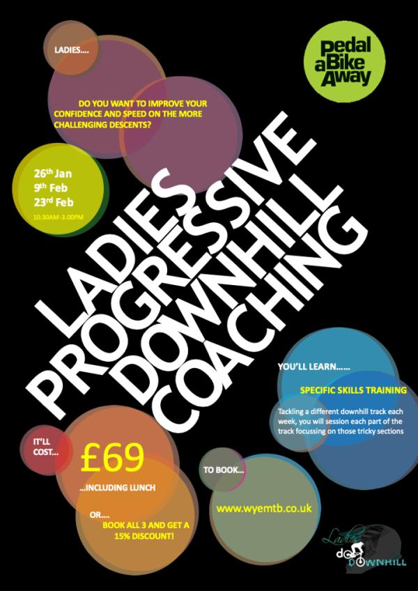 Ladies do downhill, Mountain bike coaching, Mountain bike coaching in the forest of dean, MTB coaching Wales